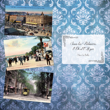 Feuilletage-Cote-dazur-album-Cartes-Postales-Palmiers