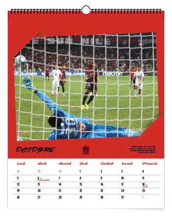 OGC Nice, calendrier 2020 Editions Gilletta