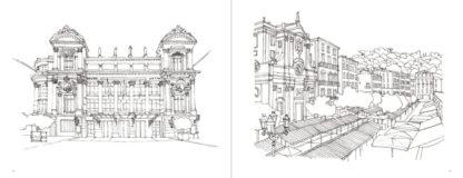 Feuilletage-Nice-la-Belle-à-colorier-façades